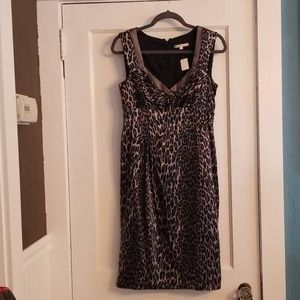 Nanette Lepore silk leopard print dress. Size 8